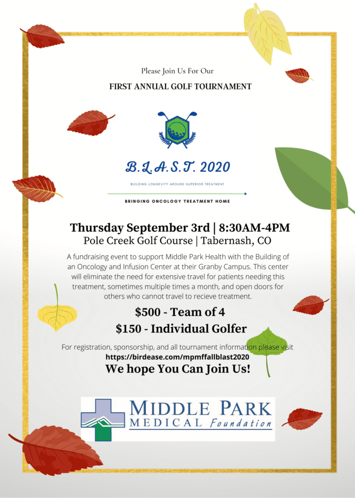 Middle Park Medical Foundation 1st Annual Golf Tournament Fundraiser